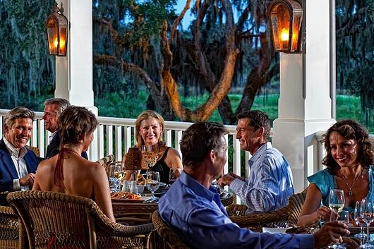 Brunch at The Founders Club can be served on our outdoor verandah overlooking an oak hammock..jpeg