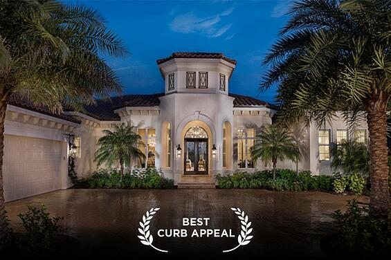 The Delfina Luxury Home Sarasota was voted Best Curb Appeal