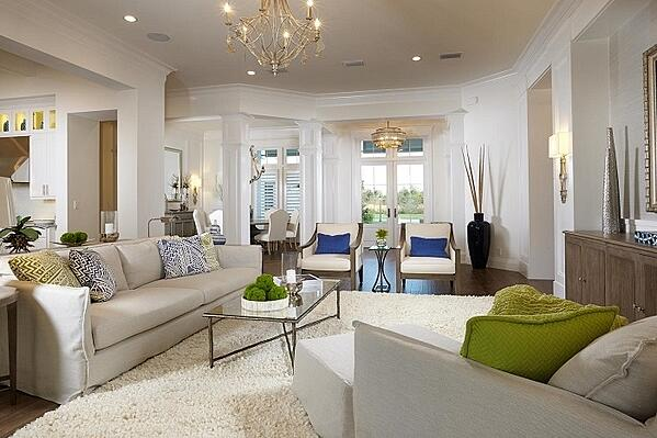 The living room of the Isabella Two-Story created by Sarasota home builder London Bay Homes