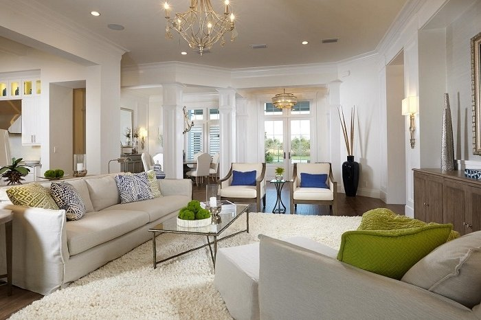 The living room of the Isabella Two-Story created by Sarasota home builder London Bay Homes.