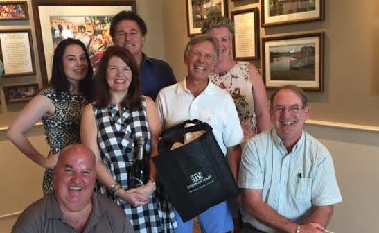 From Left to Right: Chuck  Adams, Superintendent – Sarasota; Janelle Bates, Sales Executive – The Founders Club; Deborah and Humberto Vainieri, Homeowners; Roland Nairnsey, Director of Sales; Deb Harris, Sales Executive – The Founders Club; Steve Walker, Project Manager
