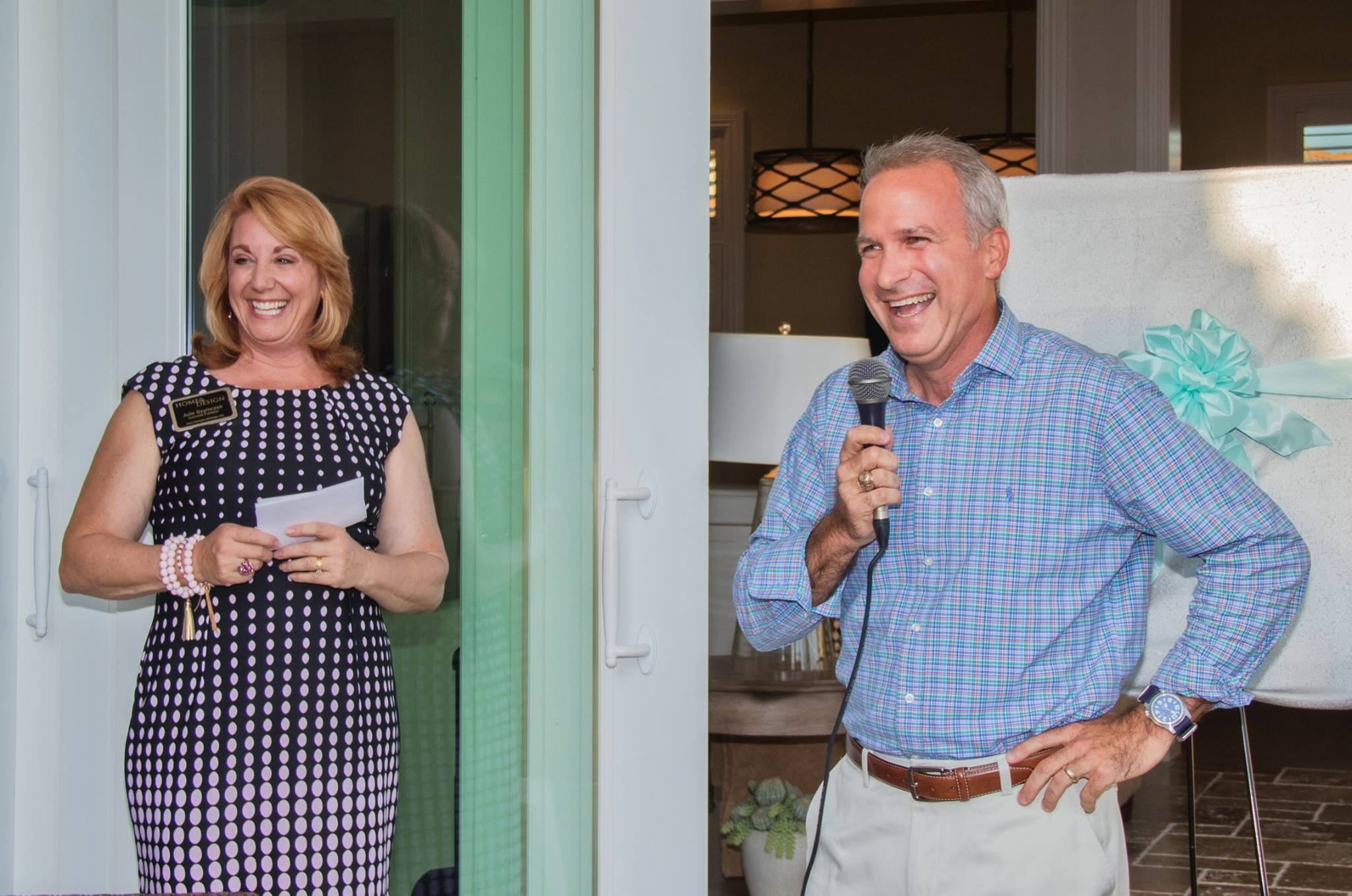 John Hillman, Sales Director for London Bay Homes, gave a brief presentation at the launch party..jpg