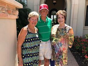 Richard and nancy sneed with Sarasota Real estate agent sandra rubinsten