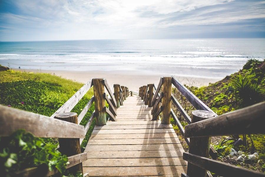 beach boardwalk stairs